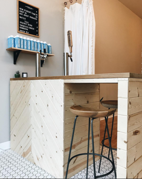 Kombucha bar at Mirepoix Wellness Studio