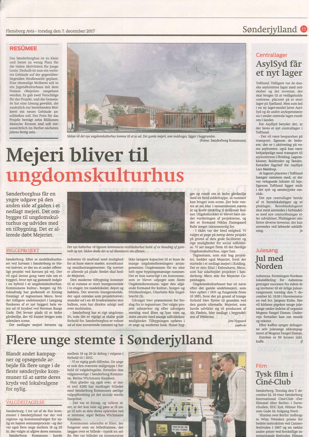 Meco Architects - Ungdomskulturhus Sønderborg