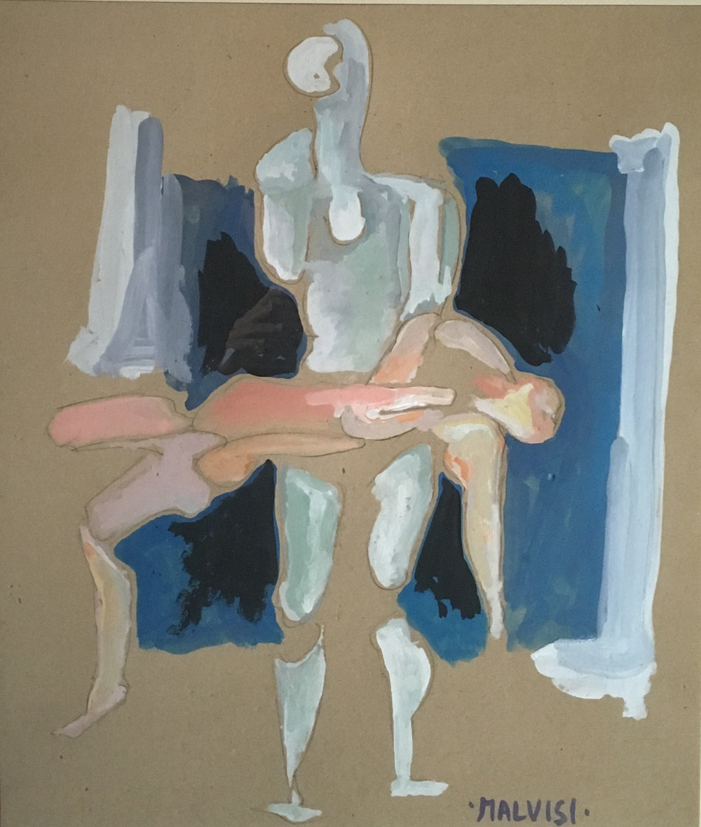 <b>Pietas</b> <br> 1995 Pencil and tempera, cm 47 x 58