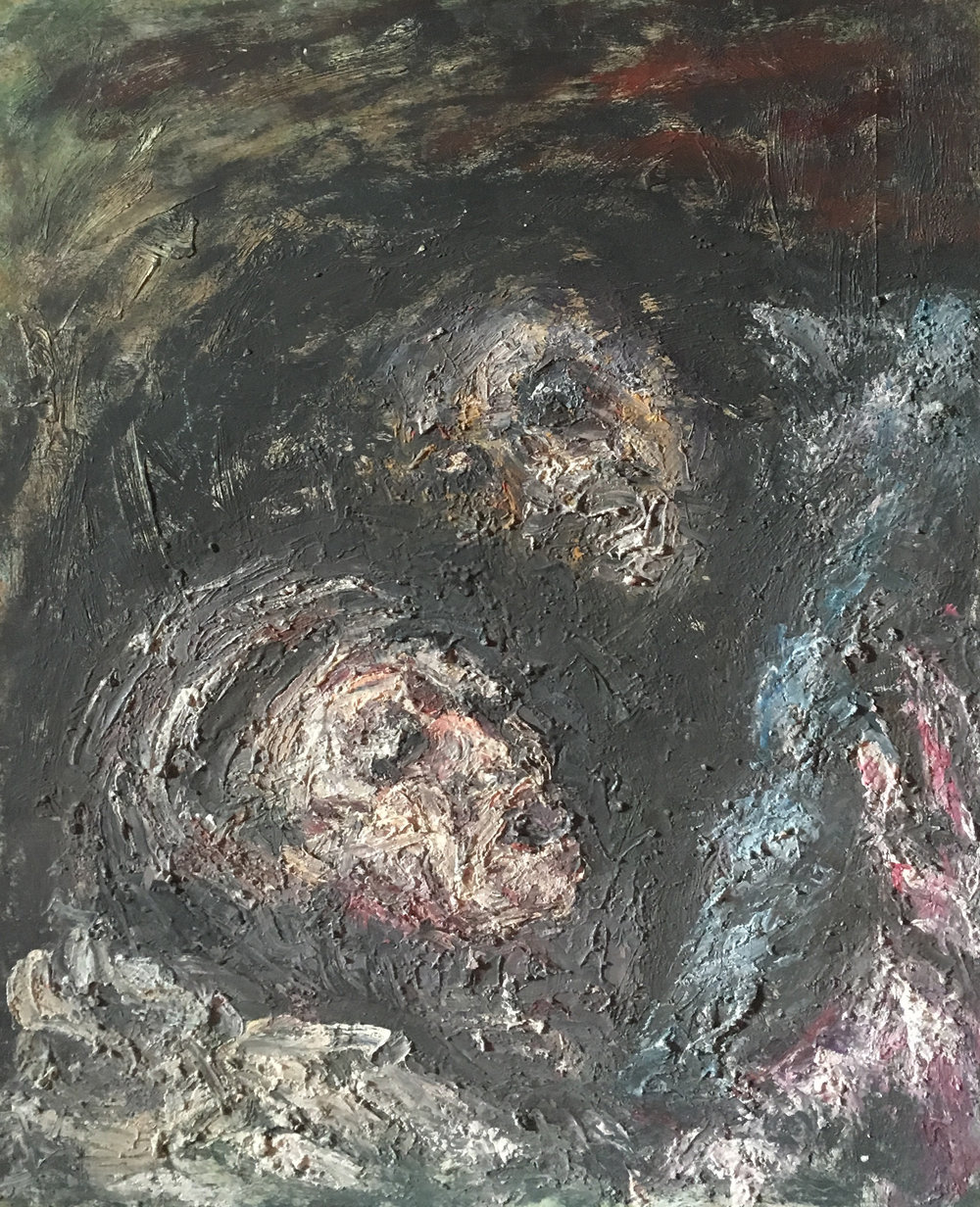 <b>The prodigal son</b><br> (Orig. Il figlio prodigo) <br> 1970 Oil on wood <br> cm 60 x 80