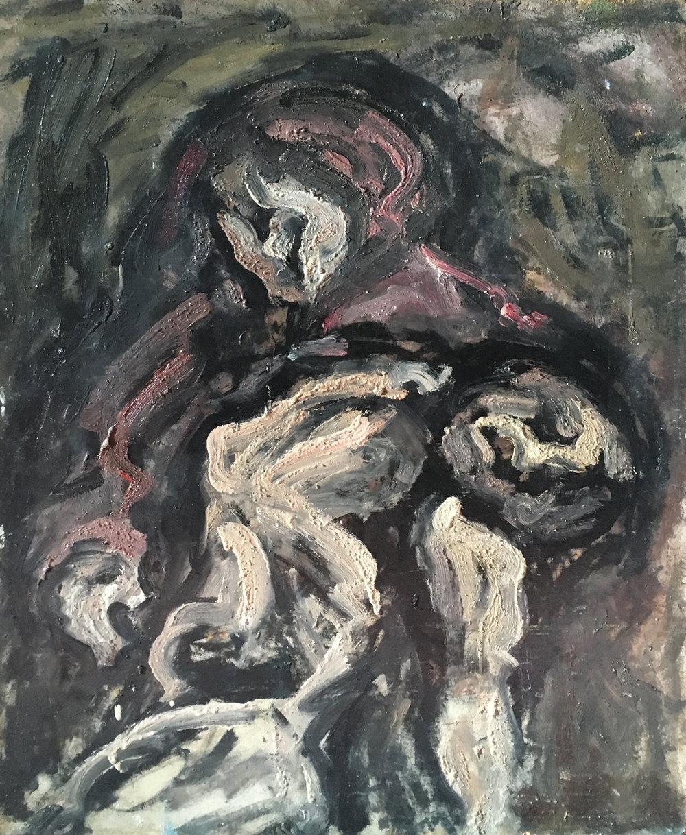 <b>Pietas</b><br> 1970 Oil on wood <br> cm 60 x 80