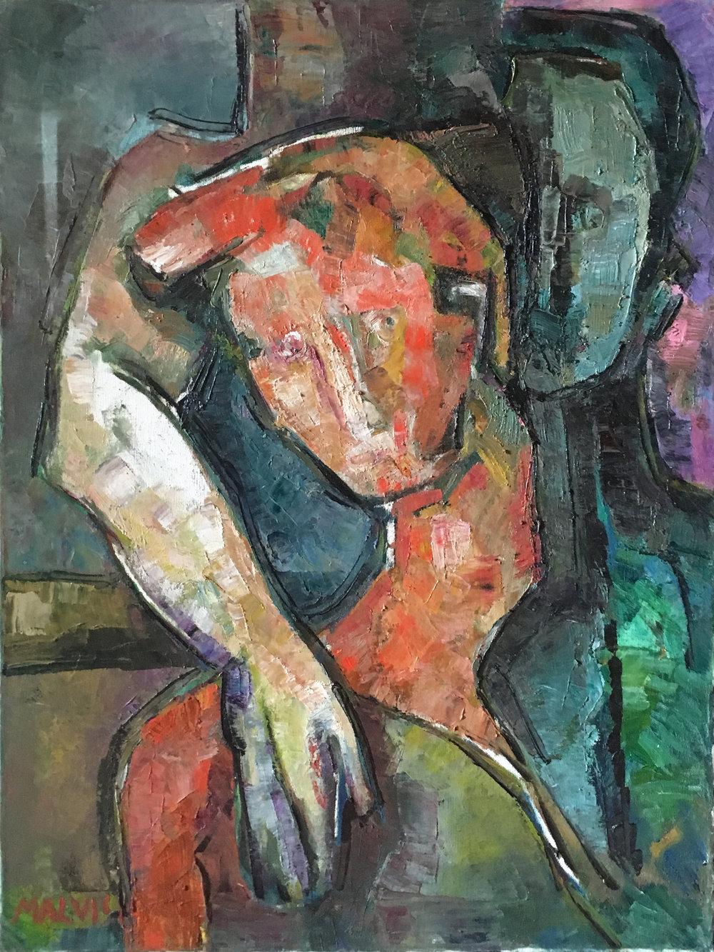 <b>Theodore</b><br> 1985 Oil on canvas <br> cm 60 x 80