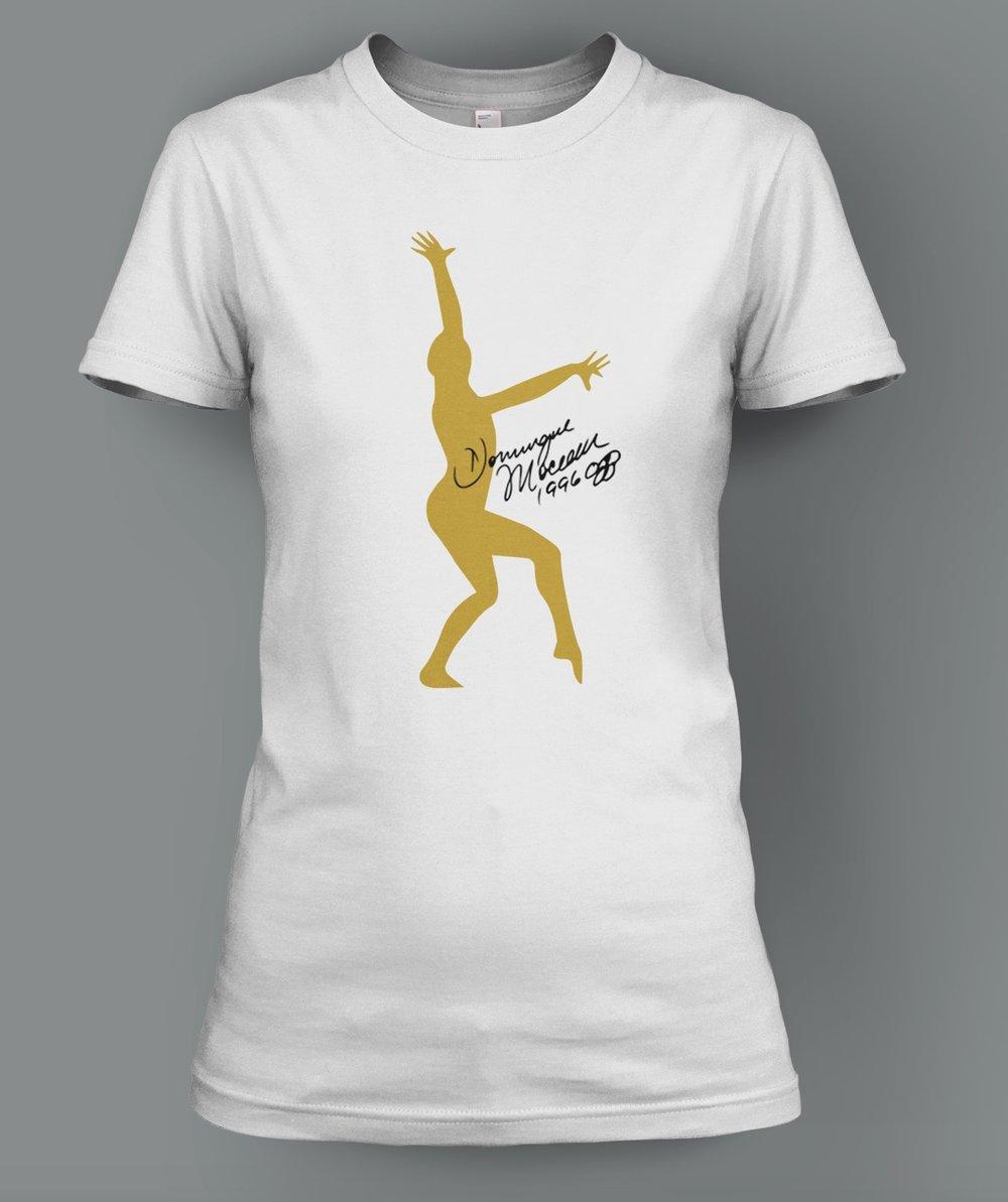 Gold Dominique Moceanu Signature T-Shirt: $26.00