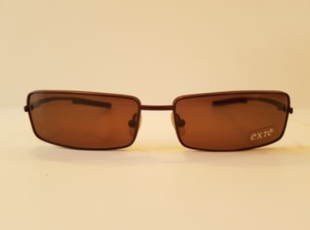 NWT EXTE' EX 58302 57X17 BROWN METAL RECTANGULAR SUNGLASSES ITALY
