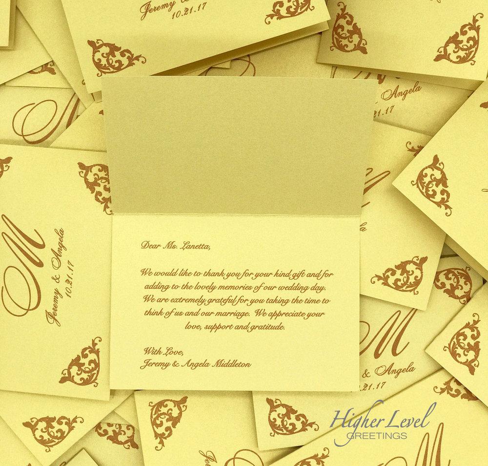 Regal gold wedding thank you cards 2g higher level greetings regal gold wedding thank you cards 2g m4hsunfo