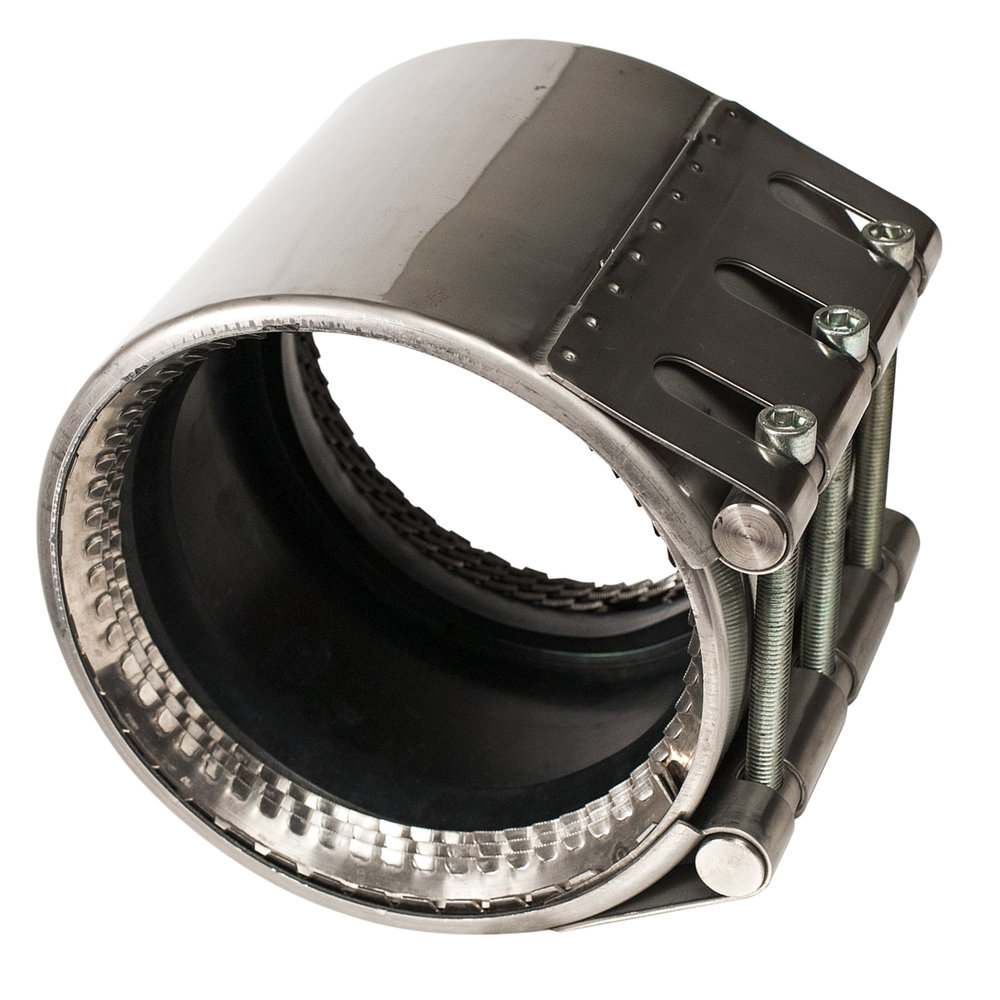 ARMOR LOCK - Stainless steel restrained pipe coupling with hydrostatic gasket.Nominal Sizes3 - 16 inchesWorking PressureSee catalog pagePipe CompatibilityDuctile iron, steel, PVC and HDPE pipe