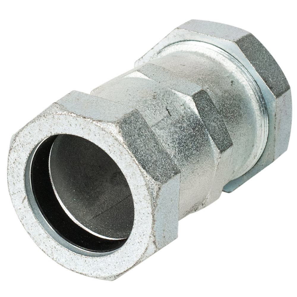 702 - Compression coupling.Nominal Sizes1/2 - 2 inchesWorking PressureUp to 150 psiPipe CompatibilitySteel or plastic pipe