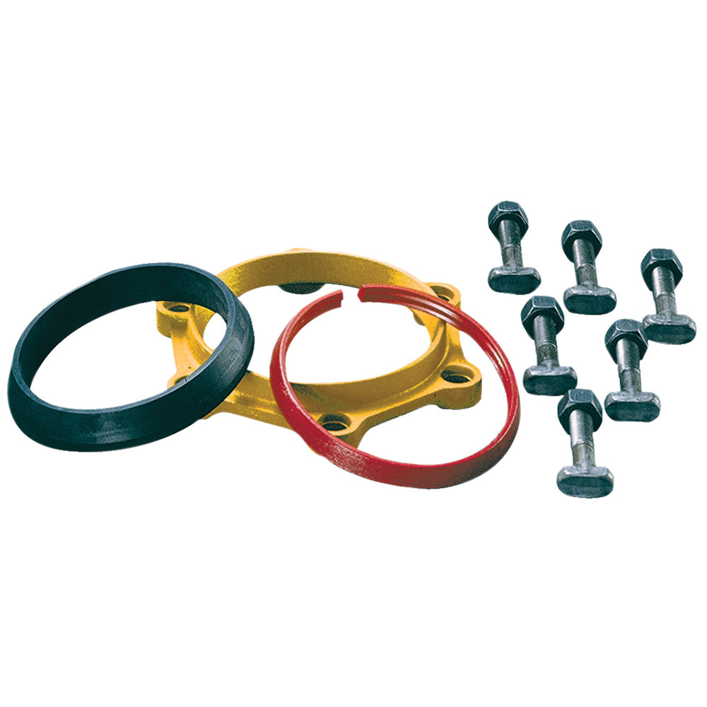 GRIP RING - MJ pipe restraint. No radial bolts to tighten.Nominal Sizes4 - 12 inchesWorking PressureUp to 350 psiPipe Compatibility Ductile iron and PVC pipe