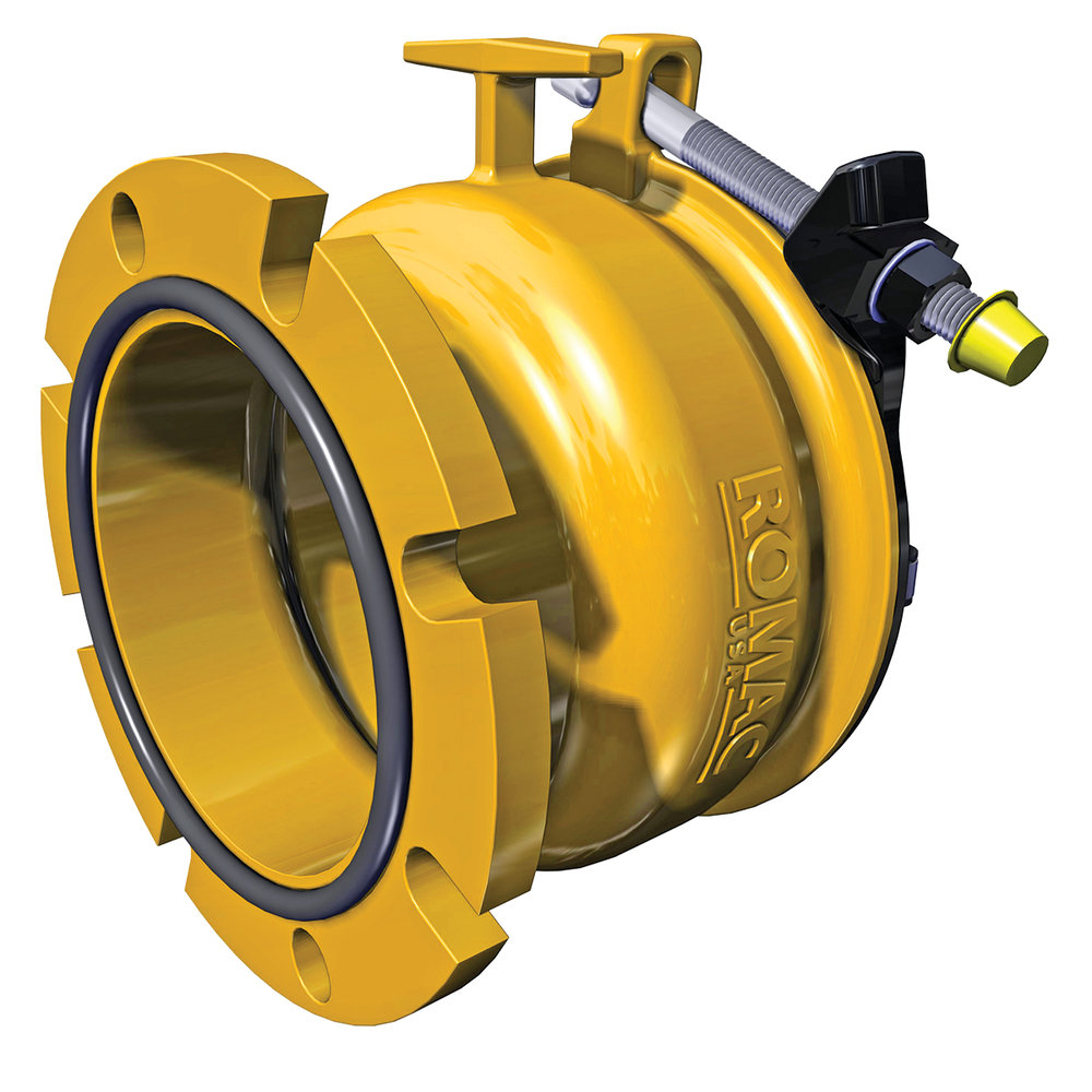 ALPHA FC - Wide range flange coupling adapter with built-in restraint.Nominal Sizes2 - 12 inchesWorking PressureUp to 350 psiPipe CompatibilityDuctile Iron, Cast Iron, PVC and HDPE pipe