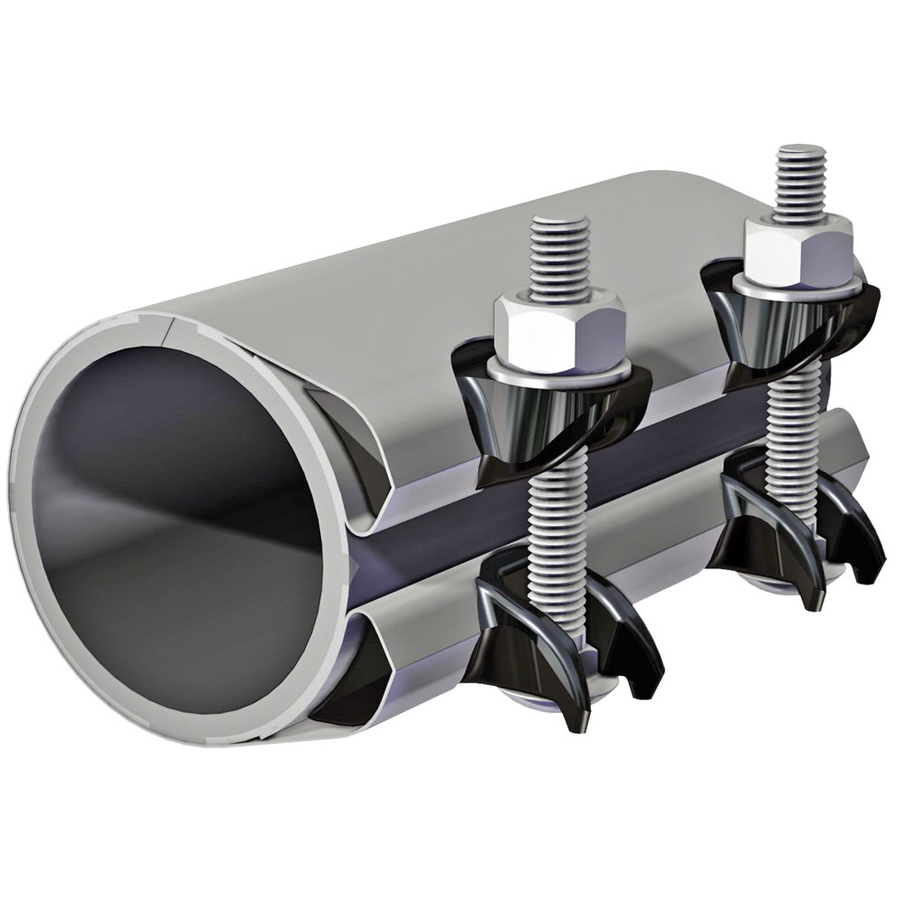 SCC - Stainless steel repair clamp with cast iron lugs