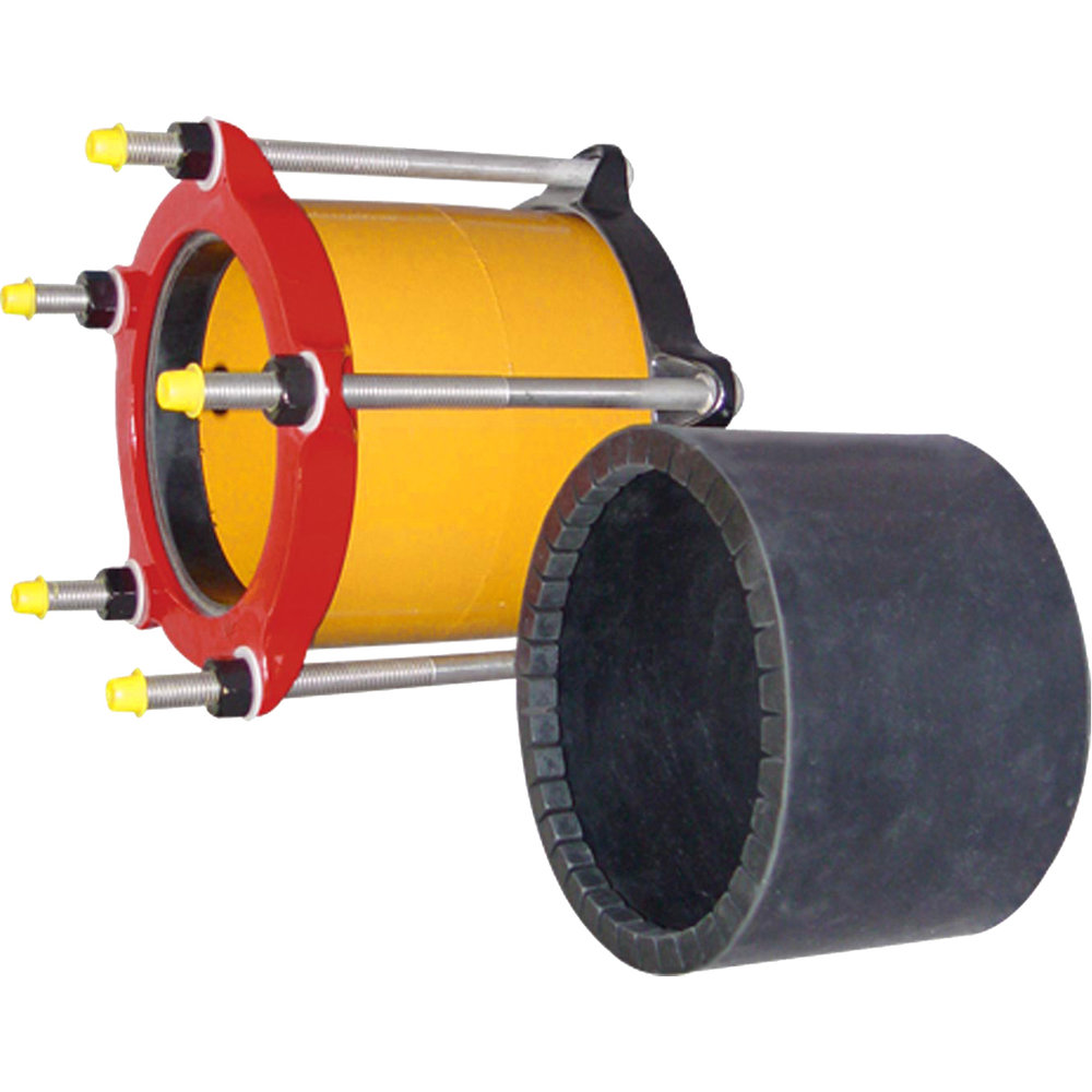 IC501 - Ductile iron coupling with insulating boot. The IC501's insulating boot stops electrolytic action by isolating one pipe from the other.Nominal Sizes4 - 14 inchesWorking PressureUp to 260 psiPipe CompatibilitySteel, cast iron and other types of metallic pipe
