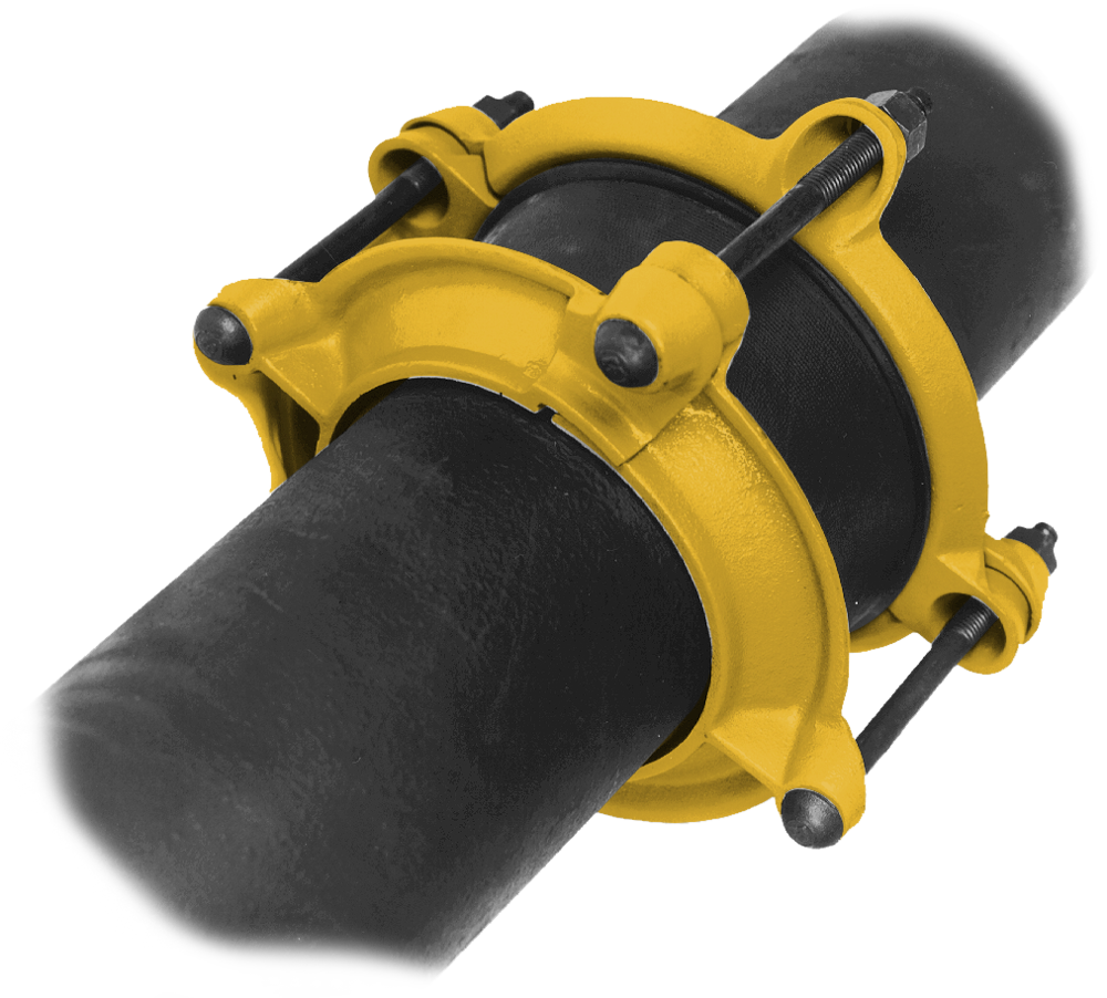 516 - Bell joint leak clamp. Used for repair or leak prevention in bells, caulked or rubber ring joints.Nominal Sizes4 - 14 inchesWorking PressureUp to 150 psiPipe CompatibilityCast iron, ductile iron and C900 PVC pipe