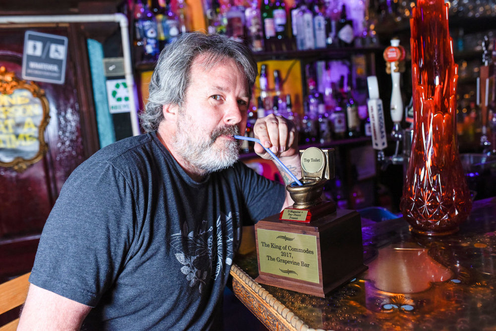 Unexpected Winner. - Due to heavy promotion, and grass roots strategies such as giving away shots to anyone who voted, local dive bar, The Grapevine, took home the Golden Throne. The results were unpredictable and the advertiser loved that.