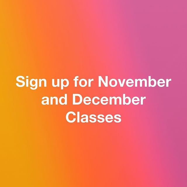 Bing Bong. The class schedule is updated on our website. Now is a as good a time as ever to knock out rad gifts for the Holidays.