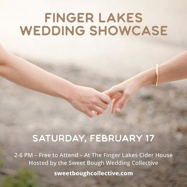 Come by Finger Lakes Cider House this afternoon and check out the beautifully curated Sweet Bough Wedding Showcase to meet local designers and vendors!