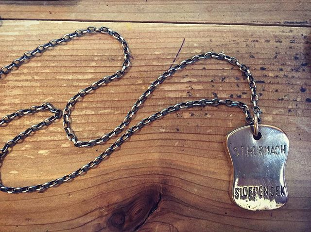 These are some of my favorite projects. Worked with a friend to bring this family heirloom back to life - we gave the pendant a sterling silver chain oxidized for a black finish, a brass jump ring, and a fresh polish.