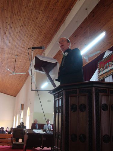 Alex preaching at St. James in Blantyre Malawi
