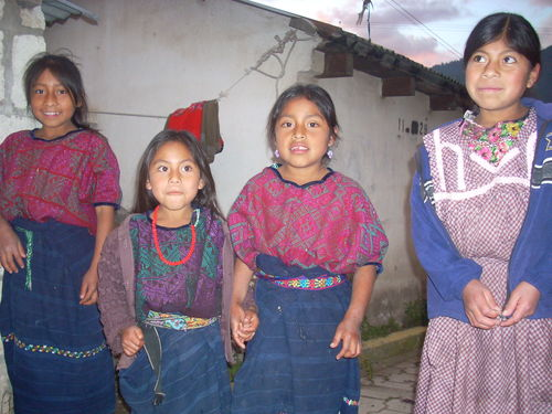 Four girls in Guatemala