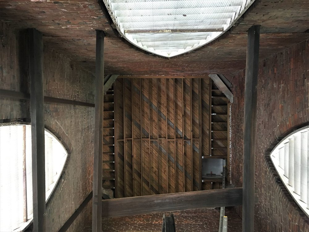 Our bell tower, with bricks and beams from the 19th century.