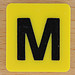 Scrabble Rebus letter M