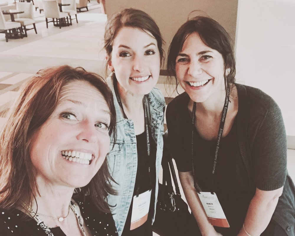 Brooke McDonald, Robin Breault and I after our wonderful hour talking together, bouncing ideas off each other. - Lead Local @goleadlocal
