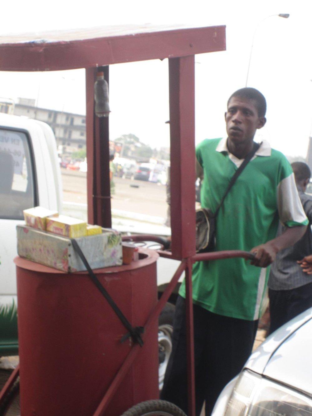 Morning coffee in Abidjan.