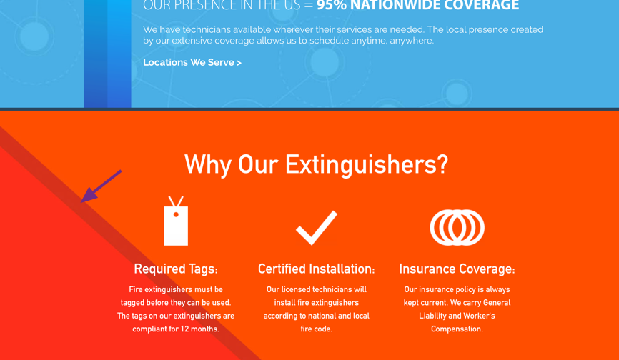 - Use of red and orange colors in some areas of the site appeared aggressive and unbalanced.