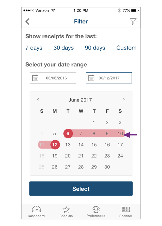 The red color on  calendar  looked aggressive, and as a warning to them, so they wanted to see little warmer color.