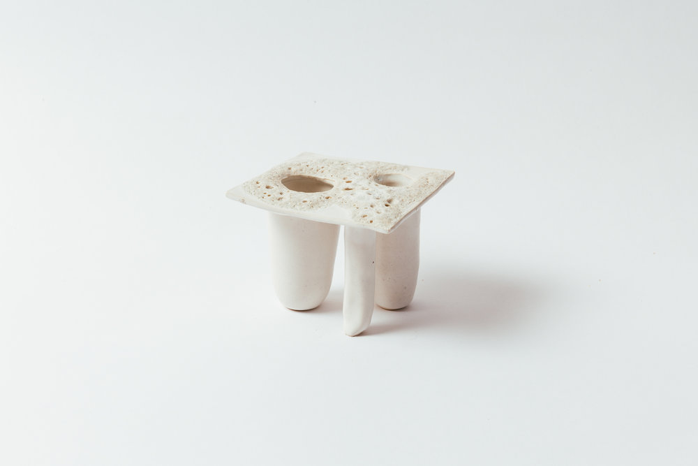 """Moonscape Square, Small  3.25""""H x 4""""W x 4""""L Two vessel container. Wholesale 60"""