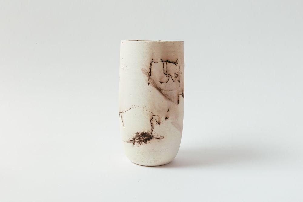 "Horsehair Cylinder  Unglazed interior.   Large, 10""H x 5""W Wholesale 110  Medium, 7""H x 4""W Wholesale 94"