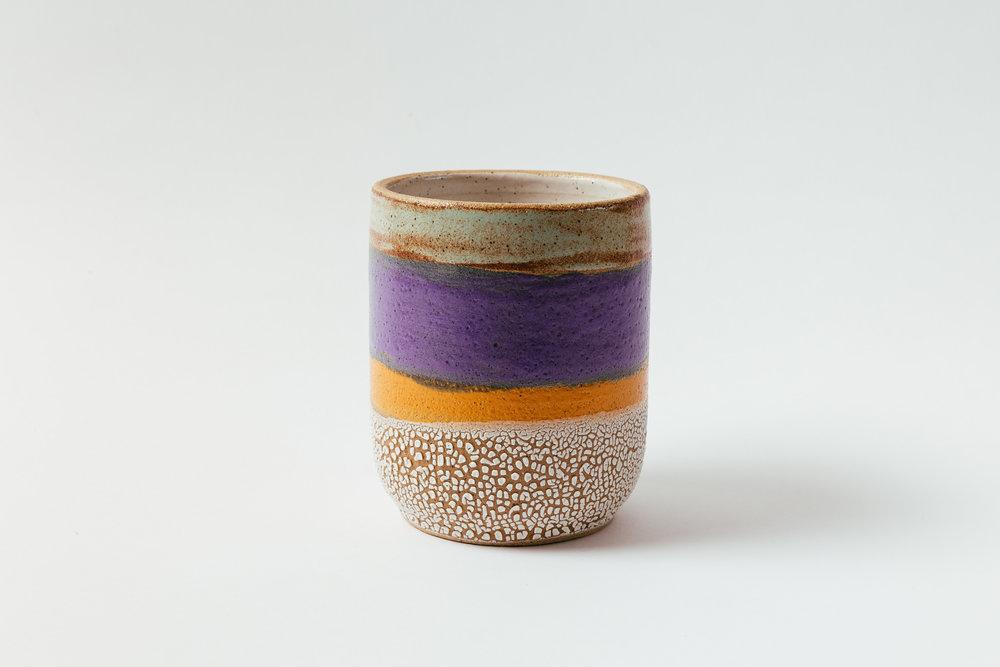 "Large Crock   Glaze on speckled stoneware.  7""H x 5""W Retail 140"