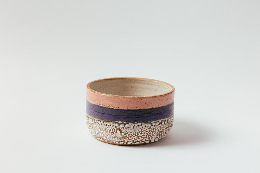 "Low Bowl, Large   Glaze on speckled stoneware.  4""H x 7""W Retail 80"