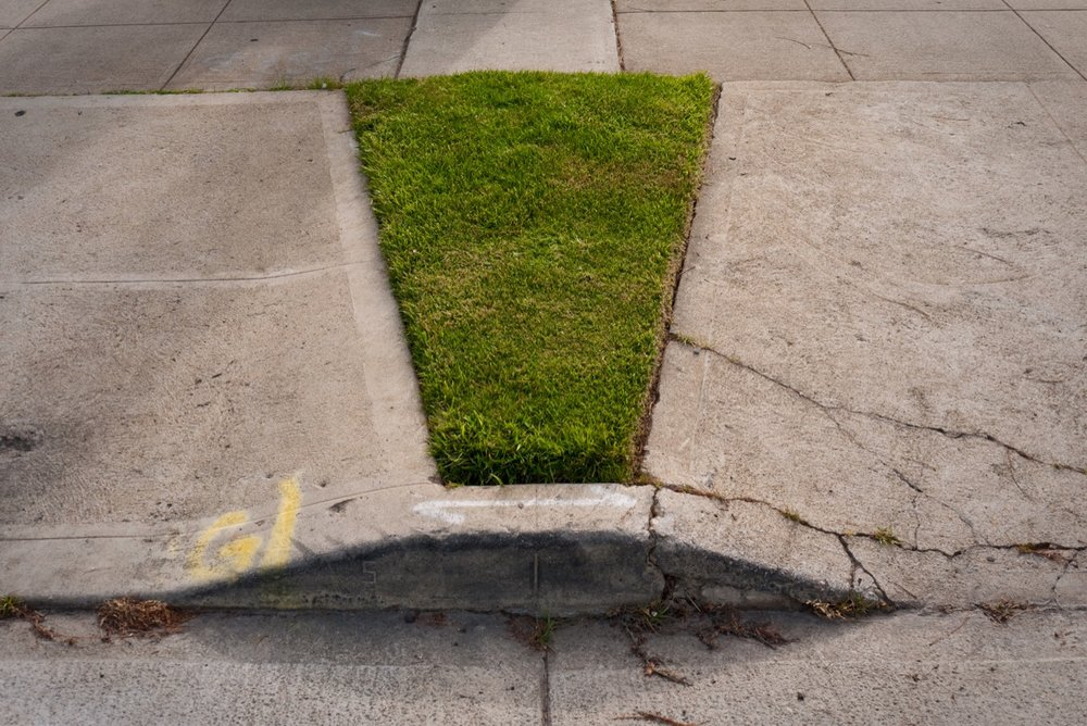 Absolutely stunning bikini strip type. About 2x5 feet, tapering to a 1 foot point atop its concrete pubis.