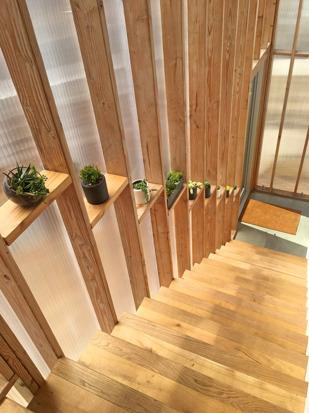 The SHED - polycarbonate stairway.jpg