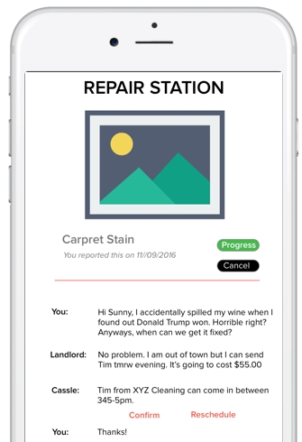 More information.More freedom. - Your tenants are able to send repair requests with relevant pictures and information all to your mobile device. Gone are the days, of panicked phone calls from unsaved numbers.Connect a contractor and seamlessly have the repair fixed, tenants notified and a repair report sent to your phone.
