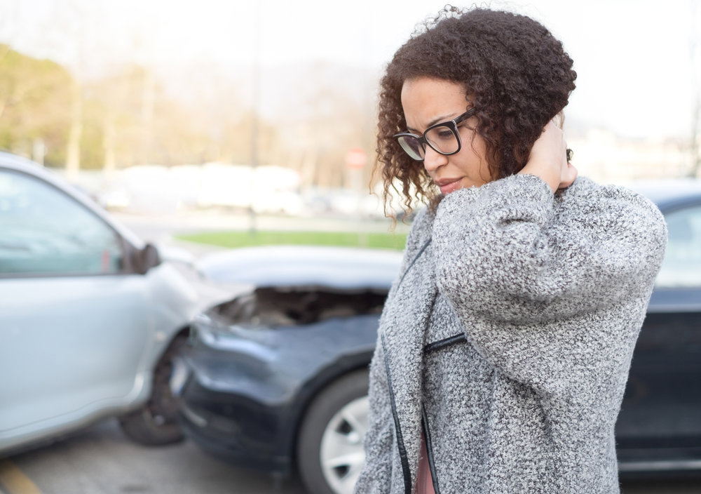 Neck pain is the most common issue after small car accidents - acupuncture can help