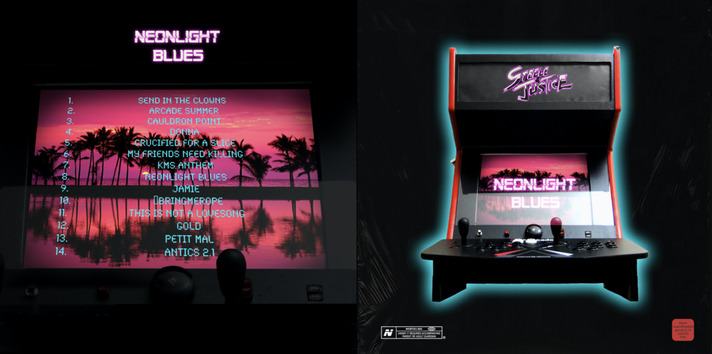 "Steele Justice   - Neonlight Blues. Cd & 12"" design (alternate edition)."