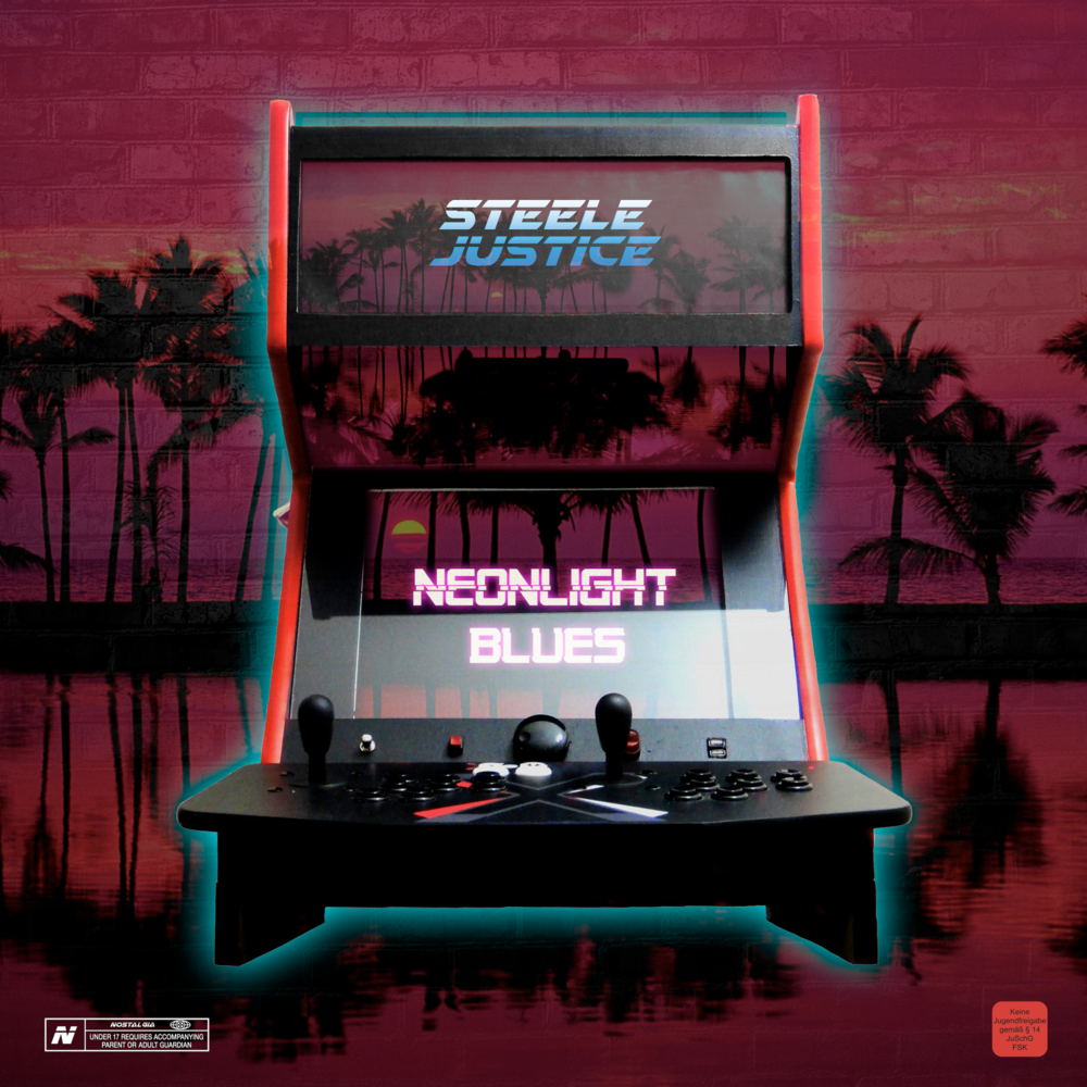 "Steele Justice   - Neonlight Blues. Cd & 12"" design."