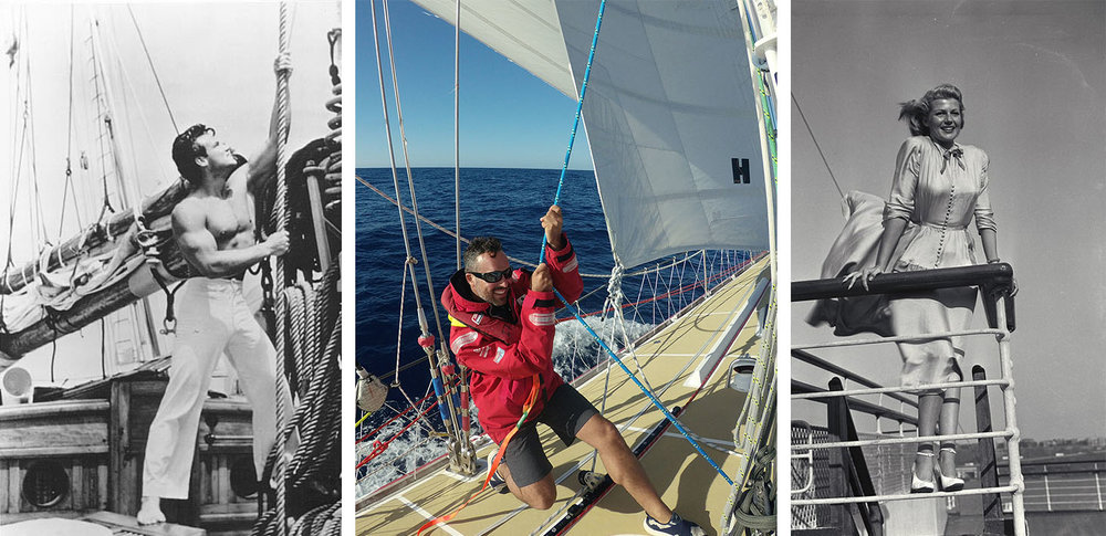 Different styles of ocean transport evolved from material capabilities - and result in different experiences. (photo credit: Clipper Round the World Race; Cunard)