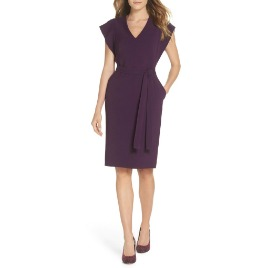 Eliza J Ruffle Sleeve Sheath Dress.jpg