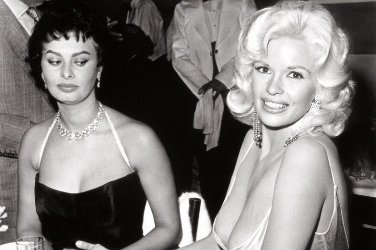 Sophia Loren and Jayne Mansfield having a moment.