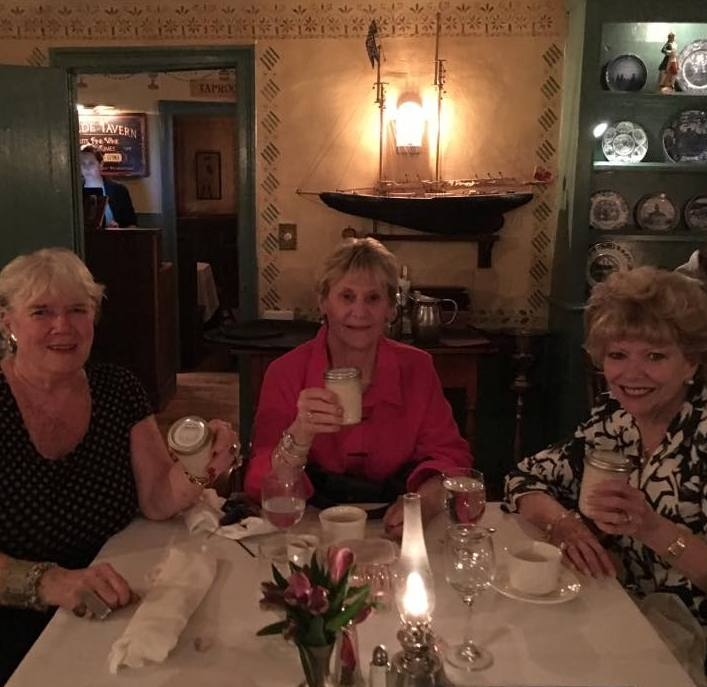 Lynne Clark, Eileen Mayo and Maureen 'Mo' Mayo with Maple butter July 12, 2017.jpg