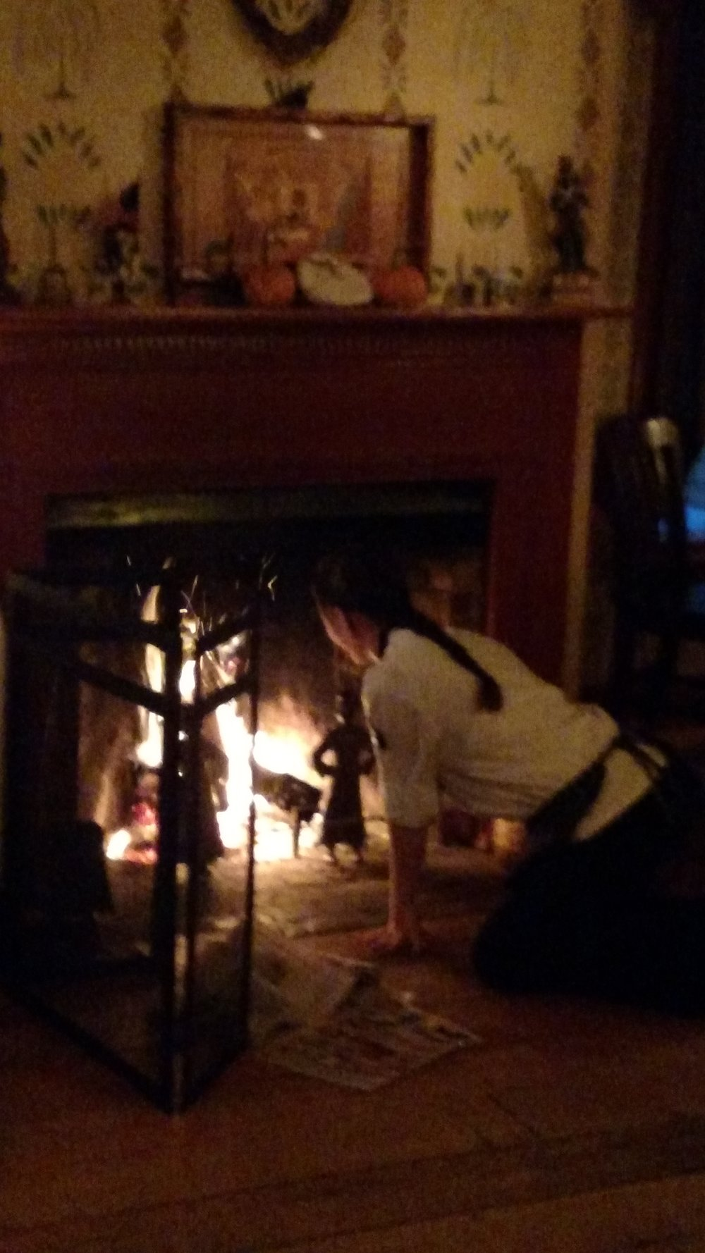 Jossie Cole lighting the fire Nov 2015.jpg