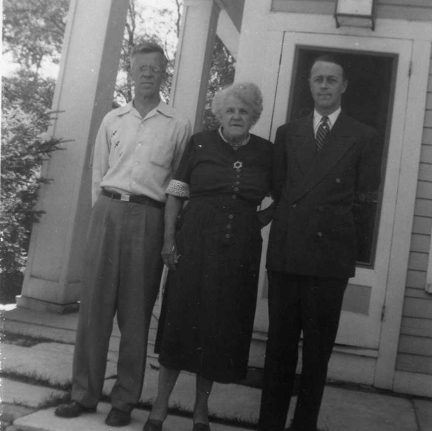 Walter with mother and brother 1953.jpg