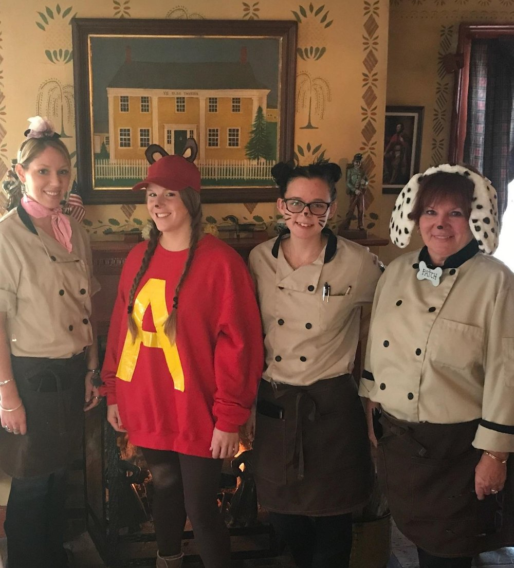 Larissa deBruin Tiffany Desmaris Tori Wraga and Marie Leavey Halloween 2017.jpg