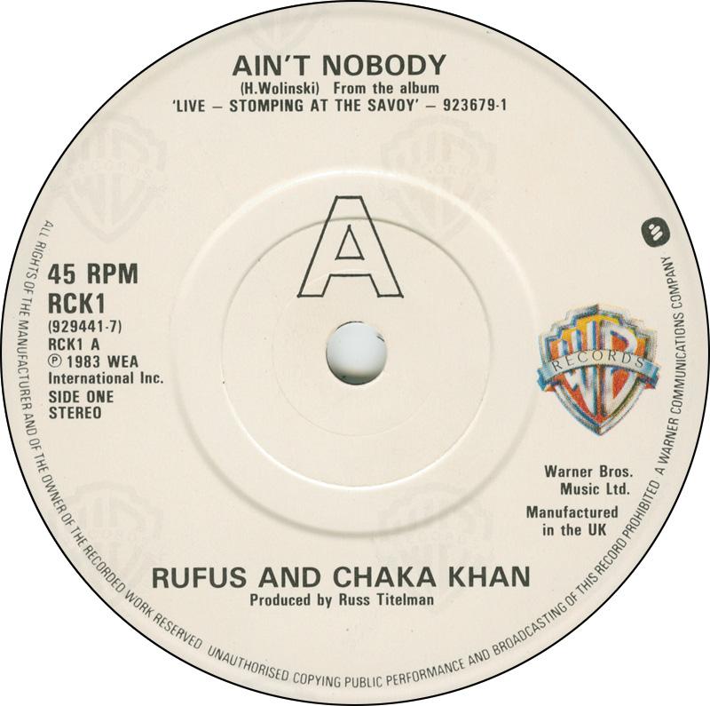 Party track? - Chaka Khan's Ain't Nobody