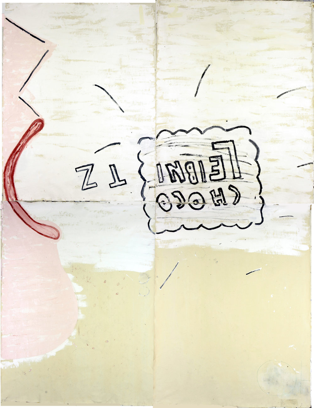 Choco Leibnitz 2006 Oil on Canvas 366 x 305 cm Rose Wylie.jpg