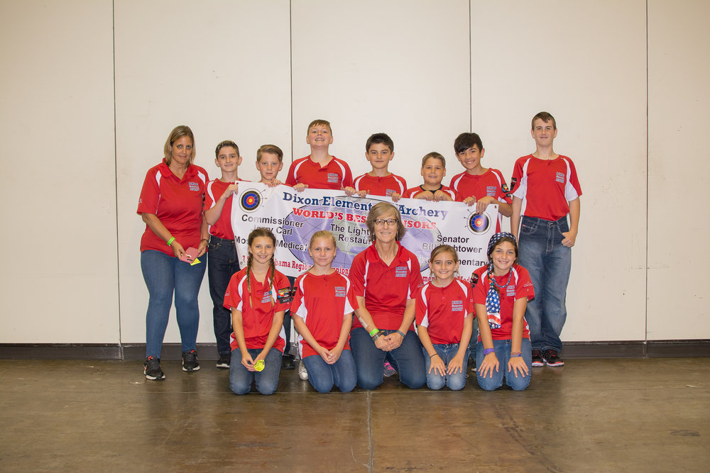 Dixon Elementary Archery Team World Tournament NASP