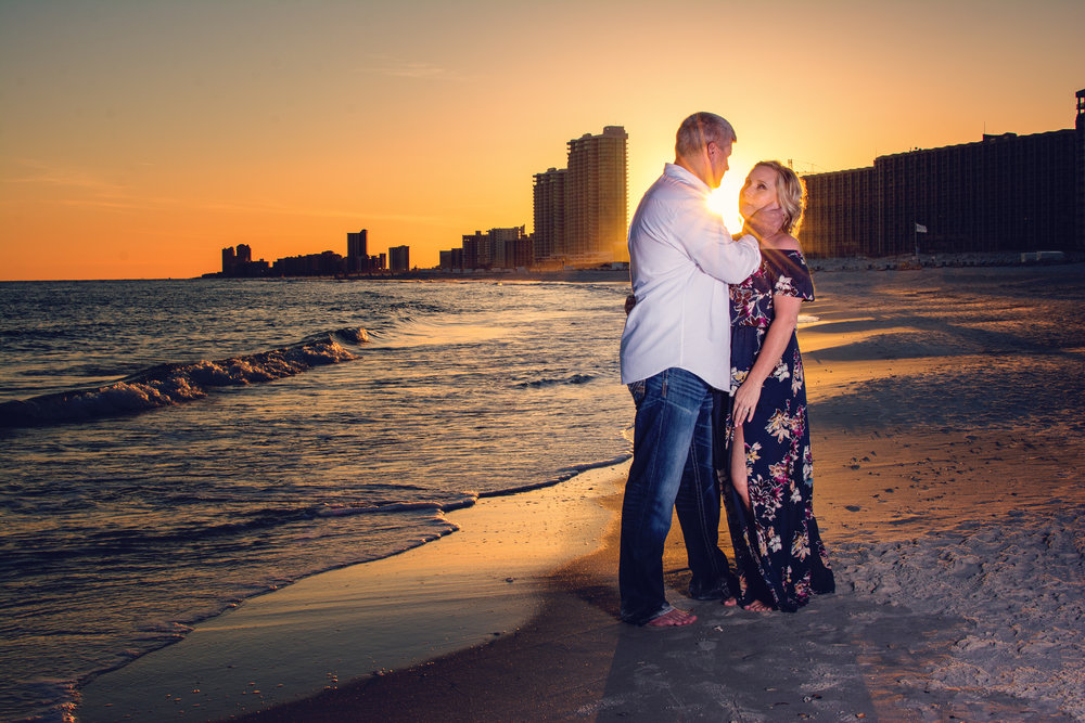 orange beach couple photography
