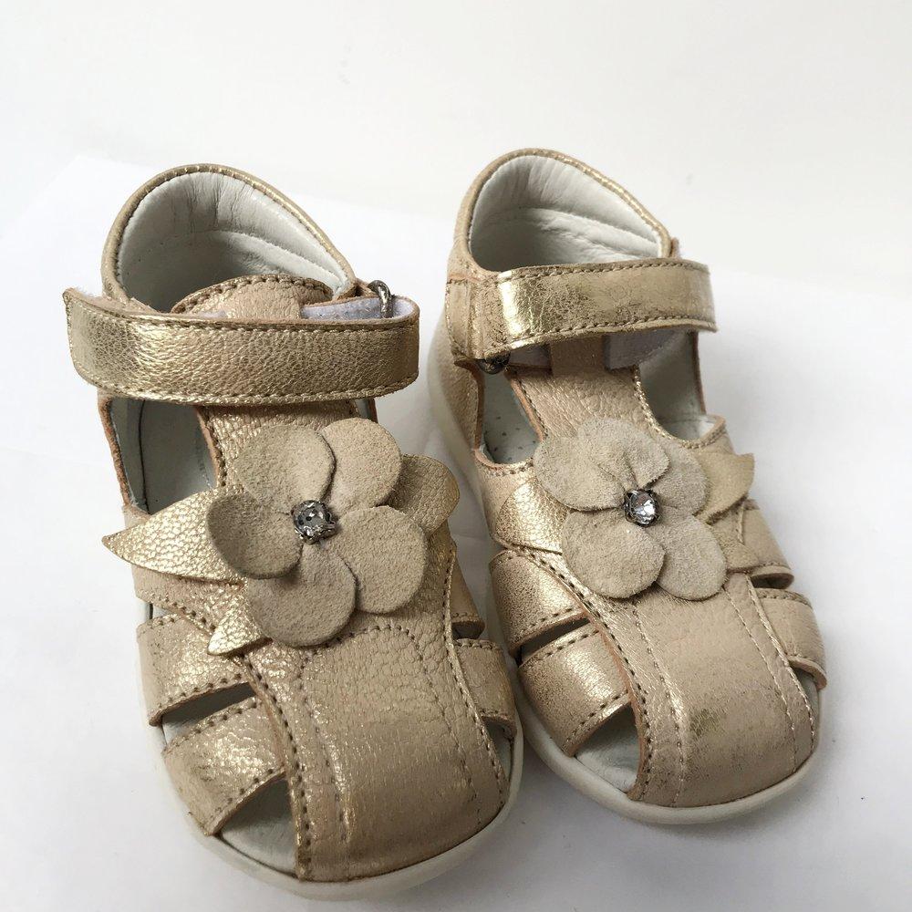 0edda9b836b6b Lola gold leather flower sandals JPG 1500x1500 Gold flower sandals